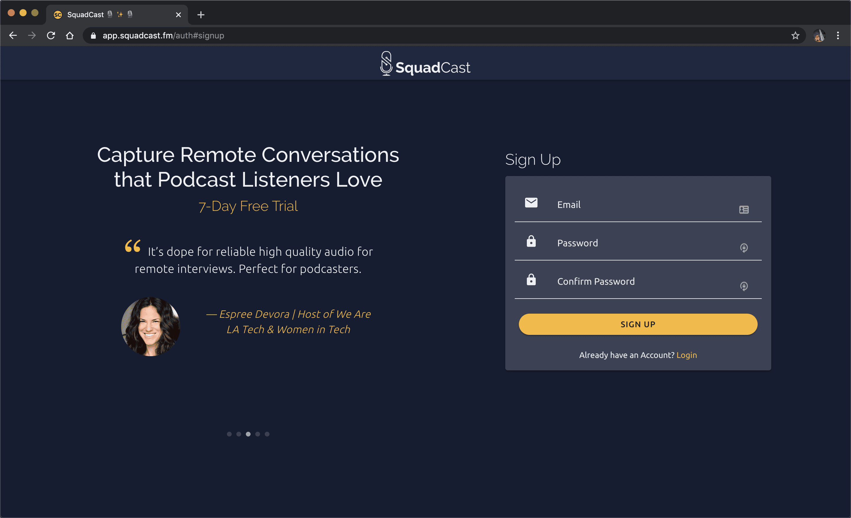 Improved accessibility with log in / sign up pages