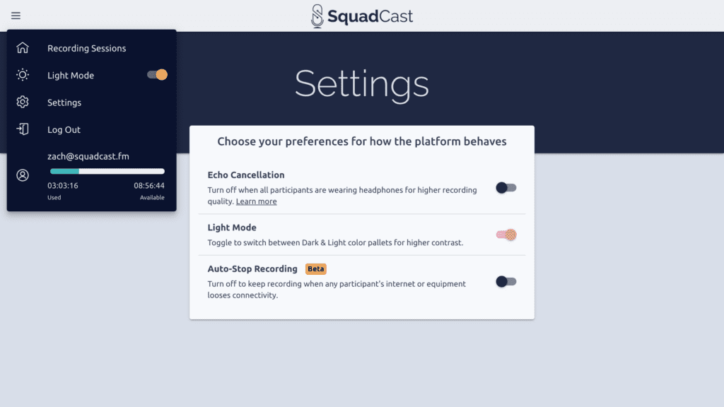 New Settings Page in v3.5